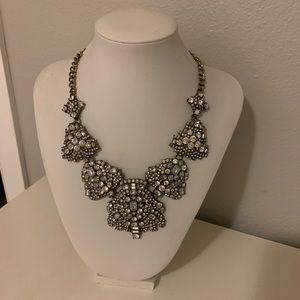 Baublebar statement bib rhinestone clear necklace